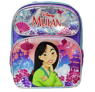 "Small Backpack Disney Princess Mulan Pretty & Brave 12"" 010047"