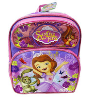 """Small Backpack Sofia The First Lovely Roses Pink 12"""" 009935"""