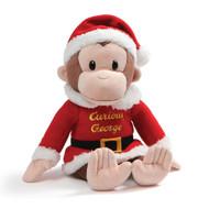 "Plush Curious George Holiday Santa Suit 12"" 6050504"