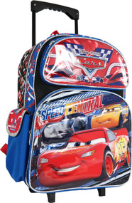 "Large Rolling Backpack Cars Lightning McQueen 16"" 004866"