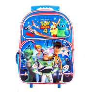 """Large Rolling Backpack Toy Story 4 Blue 16"""" 009366-2"""