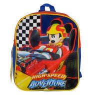 "Mini Backpack Mickey Mouse Roadsters 11"" KROA"