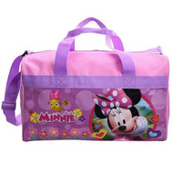 Duffle Bag Minnie Mouse Happy Face Pink NIBG