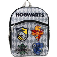 "Backpack Harry Potter Gray House Crests Shields 16"" HAPOTB"