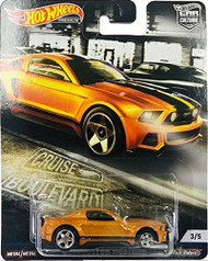 Toys Hot Wheels Cruise Boulevard 2014 Custom Mustang 3/5 Burnt Orange 707519