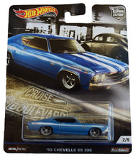 Toys Hot Wheels Cruise Boulevard '69 Chevelle SS 396 2/5 Blue 707342