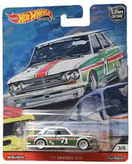 Toys Hot Wheels '71 Datsun 510 3/5 White/Green 815863