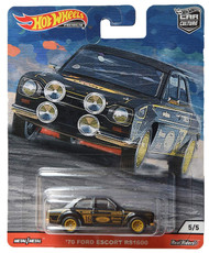 Toys Hot Wheels '70 Ford Escort RS1600 5/5 Black 815757