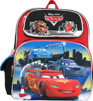 """Small Backpack Disney Cars McQueen with Friends 12"""" 669980"""