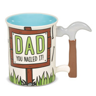 Mug Our Name is Mud Dad Hammer Sculpted Handle Cup 6006398