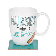 Mug Our Name is Mud Nurses Make it Better 16oz w/Coaster 6006388