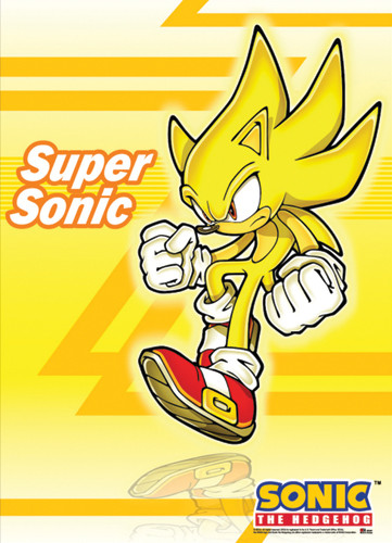 Wall Scroll Sonic The Hedgehog Super Sonic Fabric Poster Ge5280 Hobby Hunters