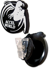 Character Goods Clip Accel World Logo Earbud Black ge18000