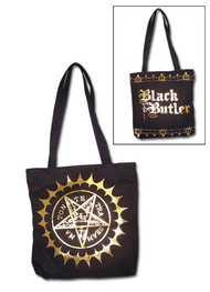 Tote Bag Black Butler Pentacle Mark Hand Purse ge5668