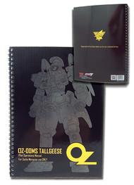 "Notebook Gundam Wing OZ Tallgeese 10x7.5"" ge43026"