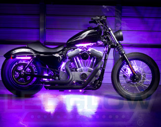 Purple Motorcycle LED Lights