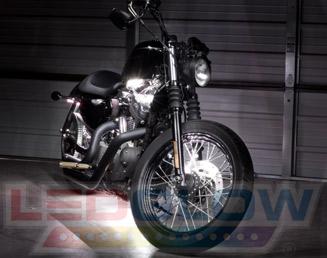 White Motorcycle LED Lights