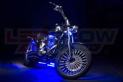 Classic Blue LED Motorcycle Light Kit