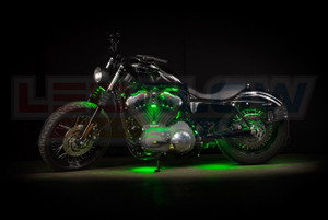 Green LED Motorcycle Underglow Lights