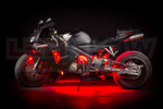 Red LED Motorcycle Underglow Lights