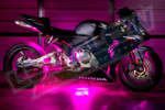 Pink Motorcycle LED Lights