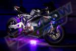 Purple LED Motorcycle Lighting Kit
