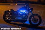 LEDGlow 2pc Classic Blue LED Starter Motorcycle Lighting Kit