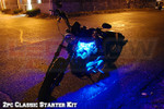 2pc LEDGlow Classic Blue LED Starter Motorcycle Lights