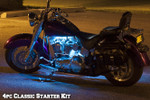 4pc Classic LED Ice Blue Motorcycle Lighting Kit