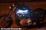 LEDGlow 2pc Classic White LED Motorcycle Lighting Kit
