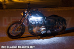 2pc Classic White LED Motorcycle Accent Lights