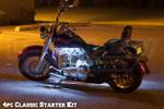 LEDGlow 4pc Classic White LED Motorcycle Lighting Kit