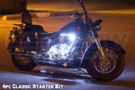 4pc Classic White LED Motorcycle Underglow Lights