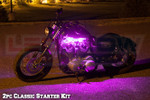 2pc Classic Pink LED Motorcycle Lighting Kit