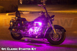 4pc Classic Pink Motorcycle LED Underglow Lights