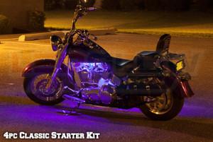 Classic Purple LED Starter Motorcycle Light Kit