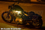 2pc Classic Yellow LED Motorcycle Lights