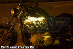 2pc Classic Yellow Motorcycle LED Lighting Kit