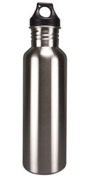 Eco-Friendly Wide Mouth 25 oz Stainless Steel Water Bottle - BPA Free, Brushed Metal
