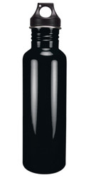 Eco-Friendly Wide Mouth 25 oz Stainless Steel Water Bottle - BPA Free, Polished Black