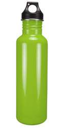 Stainless Steel Water Bottle, Wide Mouth 25 oz BPA Free, Shine Green