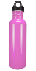 Stainless Steel Water Bottle Wide Mouth 25 oz  - BPA Free, Pink