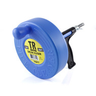 TR Industrial Drum Auger for Plumbing, 1/4-inch x 25-Feet Spring Cable