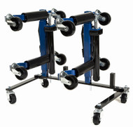 Capri Tools Hydraulic Car Positioning 9 inch Tire Jack/Dolly + Stand, 4-Pack