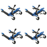 Capri Tools 21085 Hydraulic Car Positioning 12 inch Tire Jack/Dolly, 4-Pack