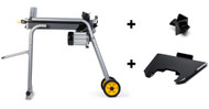 TR Industrial 89130 1800W Electric Log Splitter W/Stand + Tray + 4-way Cross Wedge Set