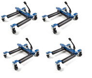 Capri Tools Hydraulic Car Positioning 9 inch Tire Jack/Dolly, 4-Pack