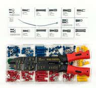 Presa Solderless Copper Wire Terminal / Connection Set with Crimper / Wire Stripping Tool, 175 Pieces
