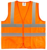 TR Industrial Orange Safety Vest, L, 2 Pockets Knitted