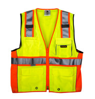 TR Industrial 3M Safety Vest with Pockets and Zipper, Class 2, Size XXXL